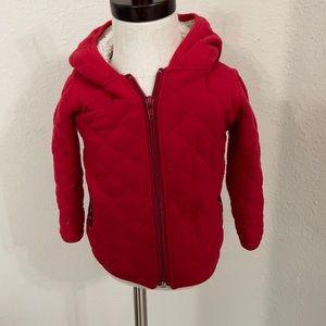 Kickee Pants zip up jacket with fuzzy hood